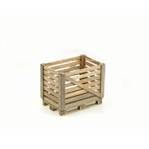 Holzgitterbox auf Europalette