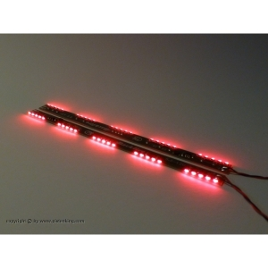 Backfire Led 130x7.5 mm rot  1Paar