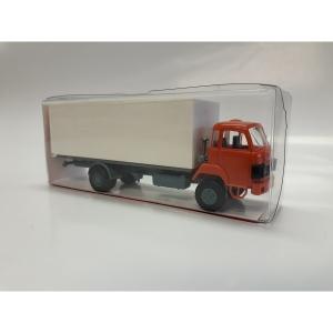 Saurer D290/330 2a Koffer mit Heckladerampe orange/weiss