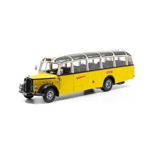 Saurer L4C IIIa Alpenwagen PTT gelb/beige