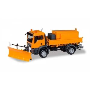 MAN TGS M Winterdienst orange mit Plug und Salzstreuer