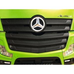 Mercedes Stern beleuchtet weiss