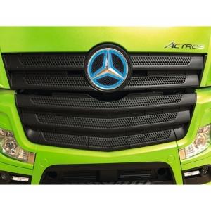 Mercedes Stern beleuchtet blau