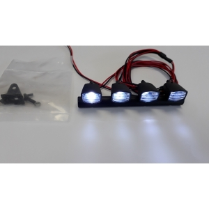 Dachlampen Balken 4 sehr Helle LED`s Xenon weiss