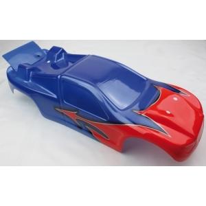 Karrosserie Truggy S10 blau/rot