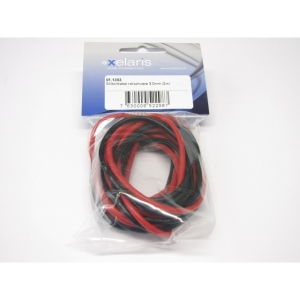Silikonkabel rot/schwarz 3.0mm