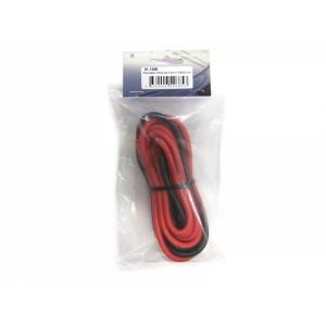 Silikonkabel rot/schwarz 5.4mm