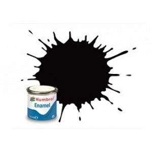 Farbe schwarz seidenmatt 85
