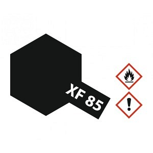 Farbe Gummi Schwarz matt XF-85