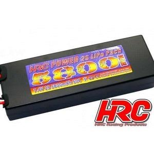 Lipo 7.4V 5800 mAh 50C Deans Stecker  Hard Case