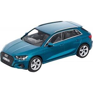 Audi A3 Sportback atollblau 2020