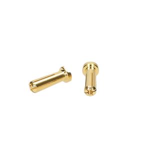 Goldstecker 5 mm flaches Profil 2 stk.