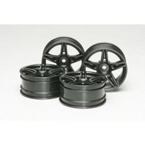Felgen 5 Speichen schwarz 4 stk. +4mm Offset