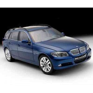 BMW 3er Touring blau met