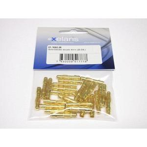 Gold-Stecker einzeln 4 mm männlich 25 st