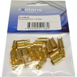 Goldkontakte 6mm 10 Paar