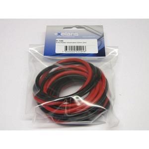 Silikonkabel rot/schwarz 4.2mm